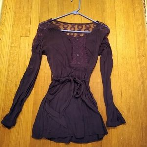 Tops - Purple tunic blouse